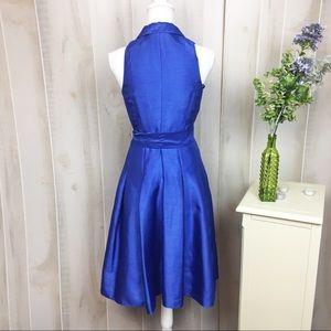 Rena Rowan Dresses - Rena Rowan Royal Blue Shimmer Fit & Flare Dress